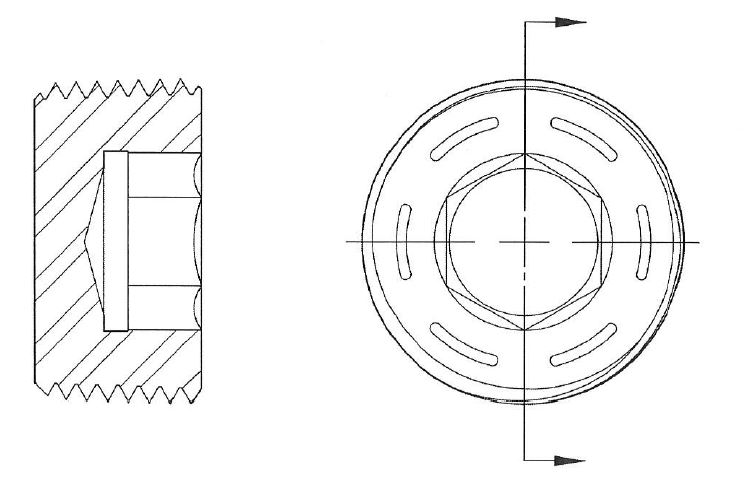 Hex Socket Pressure Plug 78 Taper Flush Seal On Precision